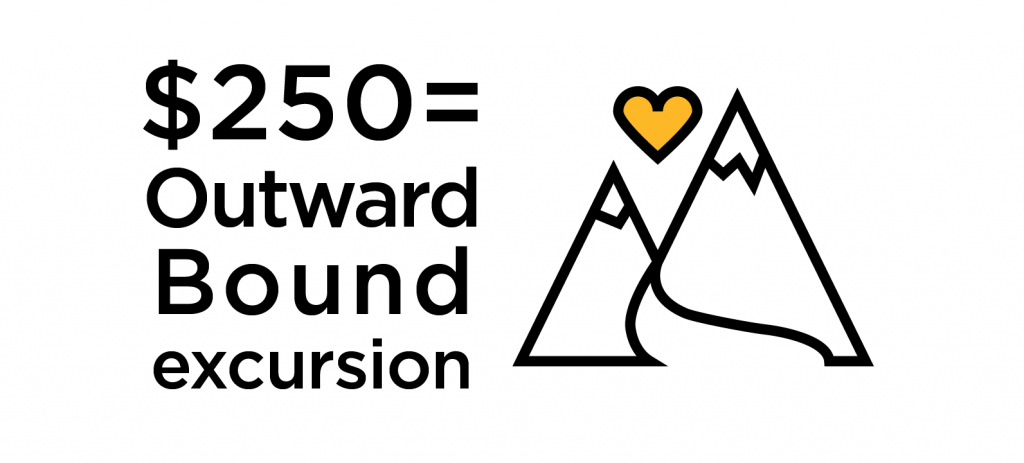 $250 = an Outward Bound Excursion