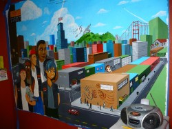 Youth-Created Mural in YouthForce Office